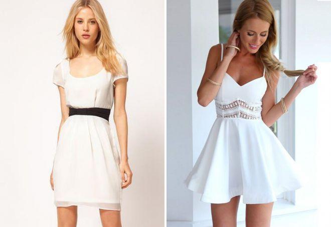 короткое белое летнее платье