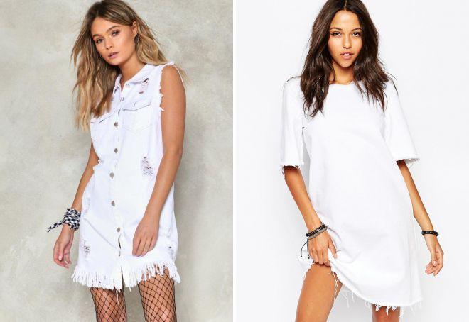 фасон белого летнего платья