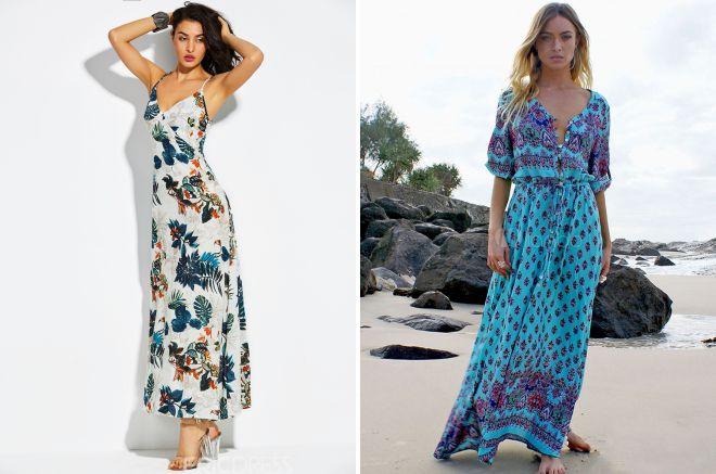 пляжные длинные платья 2018