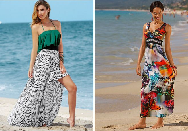 модные длинные платья лето 2018