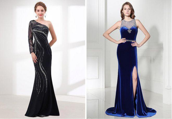 длинные вечерние платья 2018