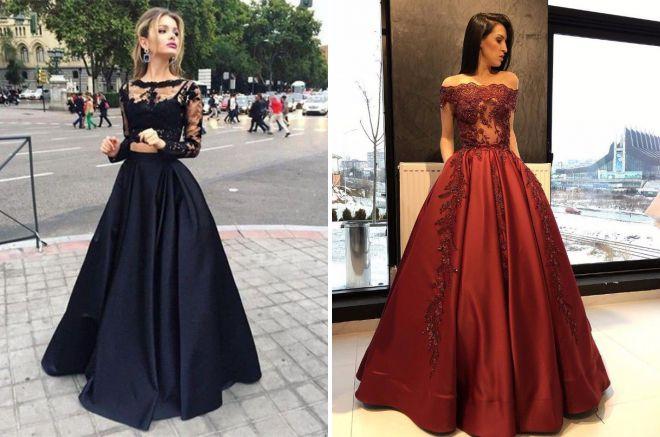 пышные длинные платья 2018