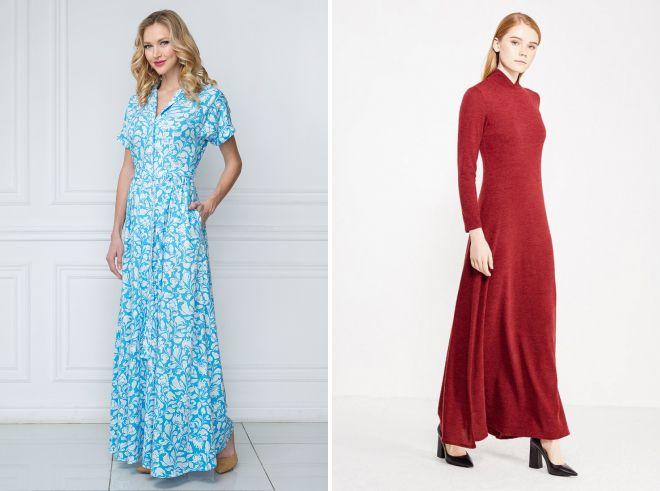 повседневные длинные платья 2018