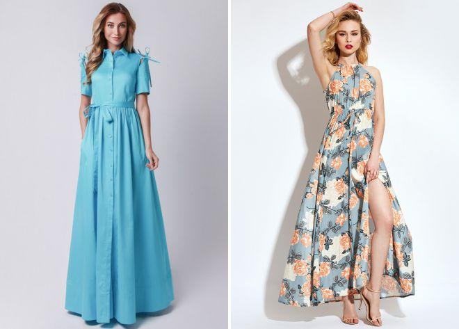 платья в пол 2018