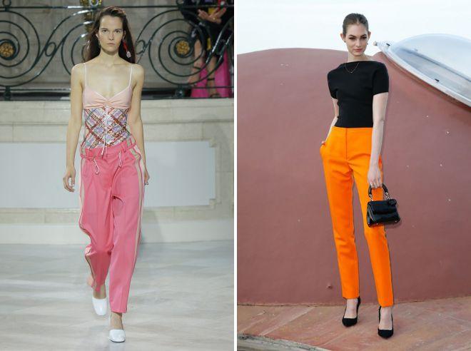 какие брюки модные летом 2018