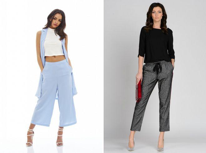 с чем носить брюки летом 2018
