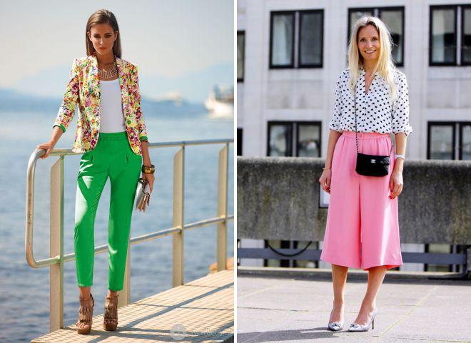 женские брюки лето 2018