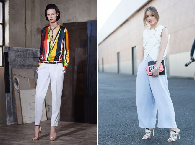 летние образы с брюками 2018