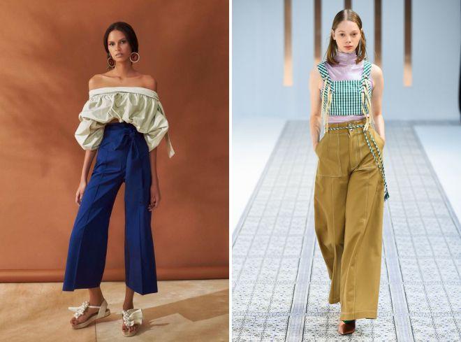 широкие брюки лето 2018