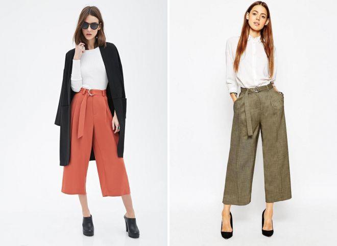 брюки кюлоты лето 2018
