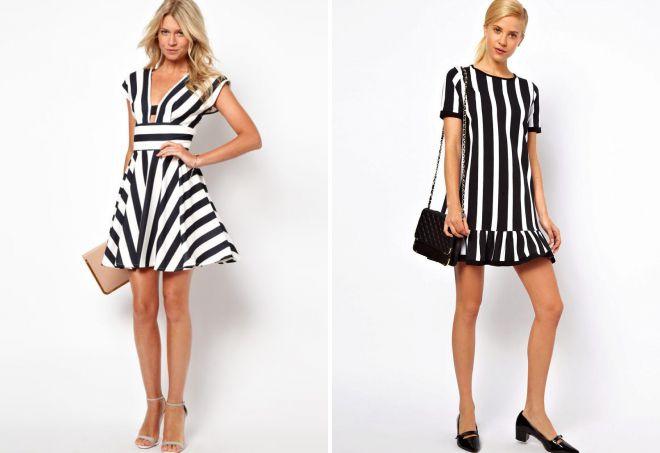 9128c25fcd32824 Стильные летние платья в полоску – короткое, длинное, трикотажное ...