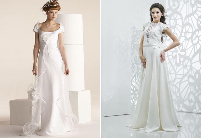 свадебное льняное платье