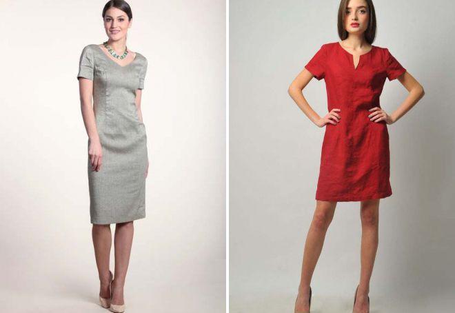 модные льняные платья 2018