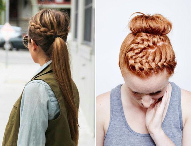 прически лето 2018 с косами