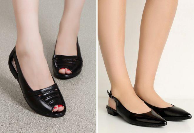 летние женские кожаные туфли