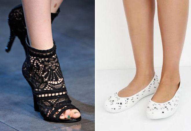 летние туфли из текстиля