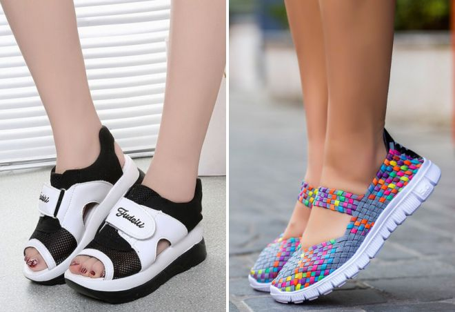 женские летние спортивные туфли