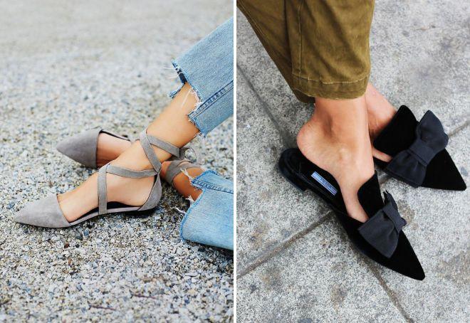 летние туфли без каблука