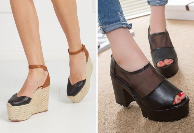 летние туфли на платформе
