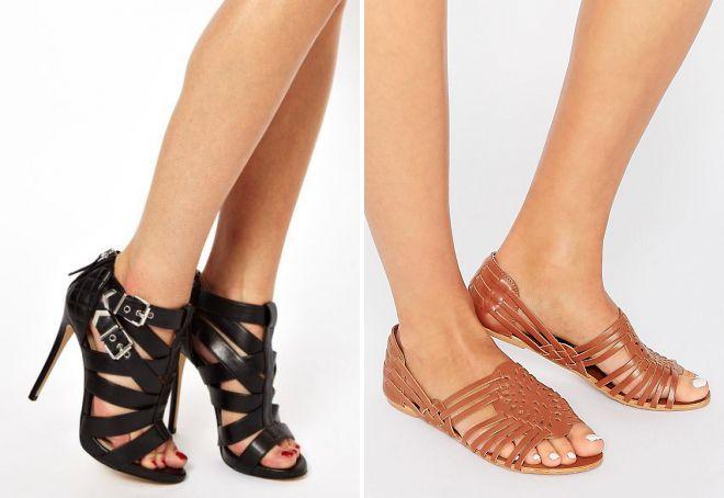 модные летние туфли