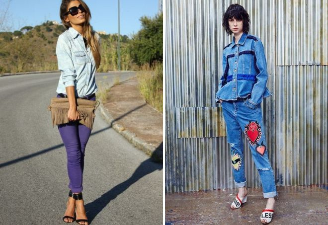 женские рубашки под джинсы