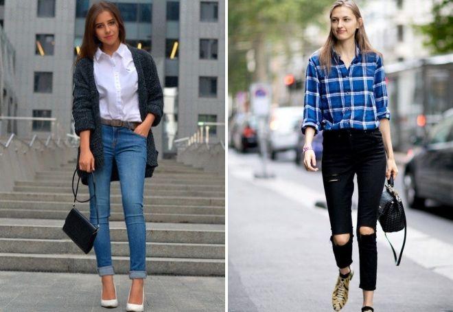 нужно ли заправлять рубашку в джинсы