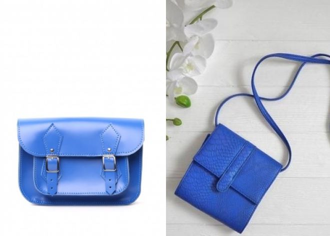 синяя сумка микро клатч