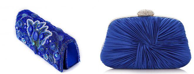 کیسه کلاچ آبی تیره