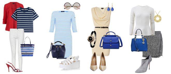 сумки синего цвета с чем носить