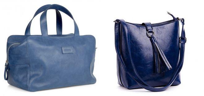 модные синие сумки