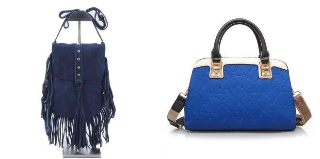 женские синии сумки