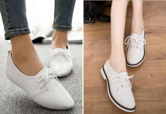 Модные женские белые туфли – лодочки, на платформе, танкетке ... a1e96bc37c2