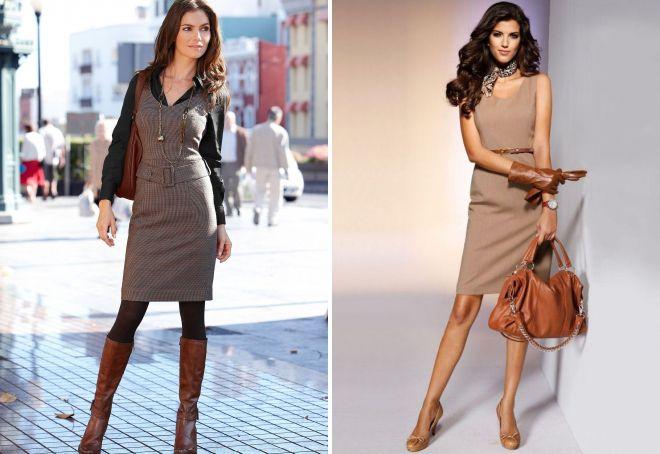 платья коричневого цвета