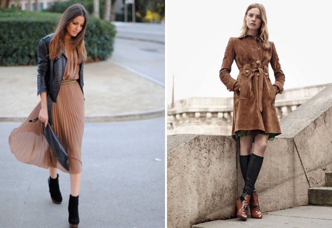 коричневые платья миди