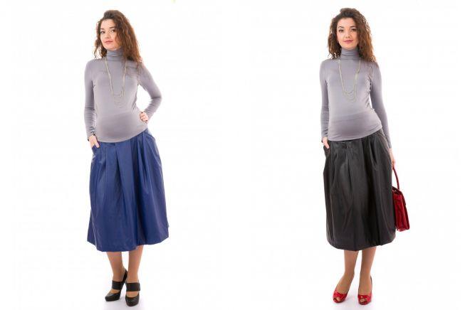 1e7ffab3ee9f3d5 Модные юбки для беременных – классические, длинные макси, джинсовые ...
