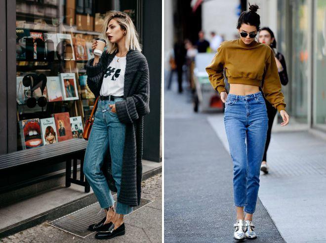 джинсы мом осень 2018