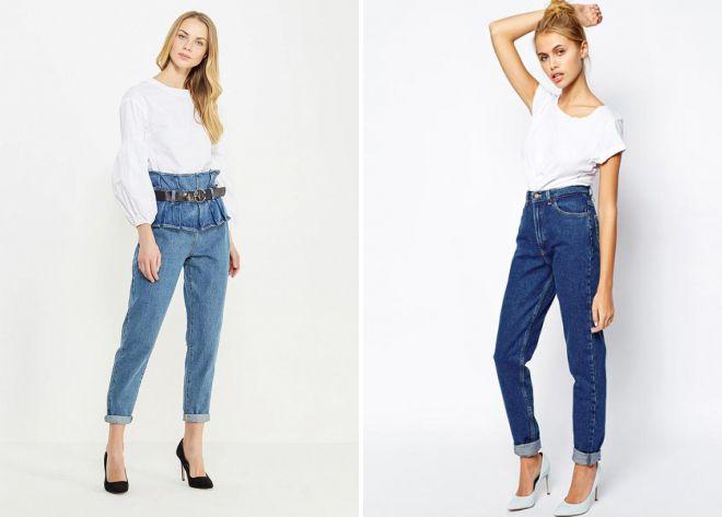 джинсы с высокой талией 2018