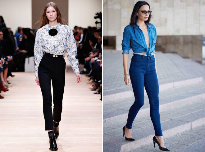 модные джинсы осень зима 2018