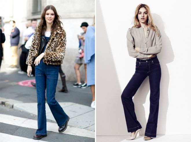 расклешенные джинсы осень 2018