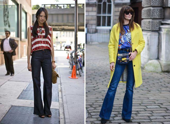 мода на джинсы осень зима 2018