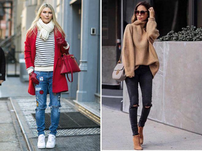 с какой обувью носить джинсы осенью 2018
