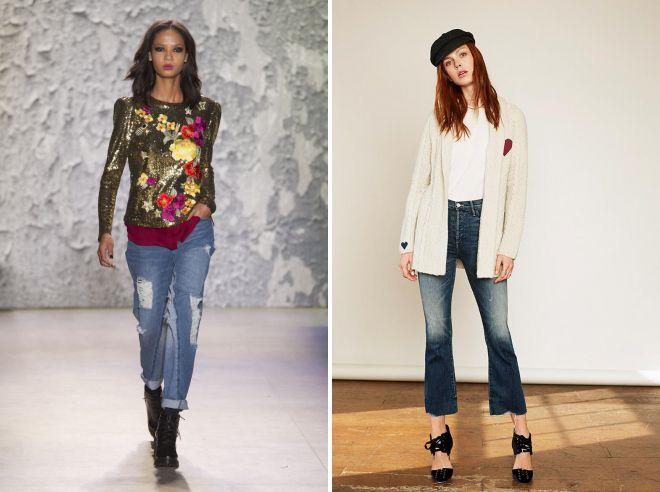 какие джинсы модные осенью 2018
