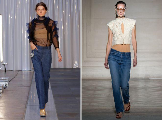модные джинсы осень 2018