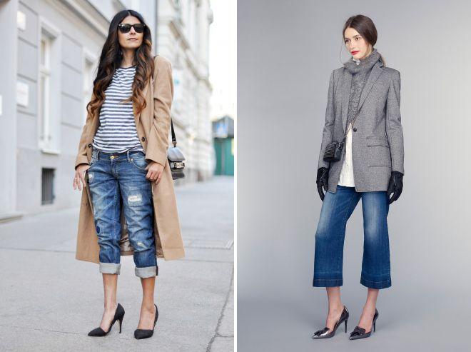 укороченные джинсы осень 2018