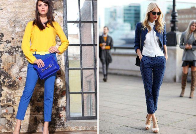 короткие прямые брюки