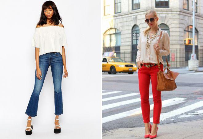 короткие джинсовые брюки