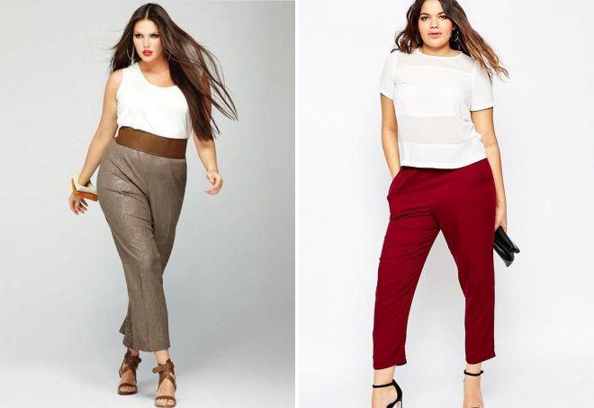 короткие брюки для полных