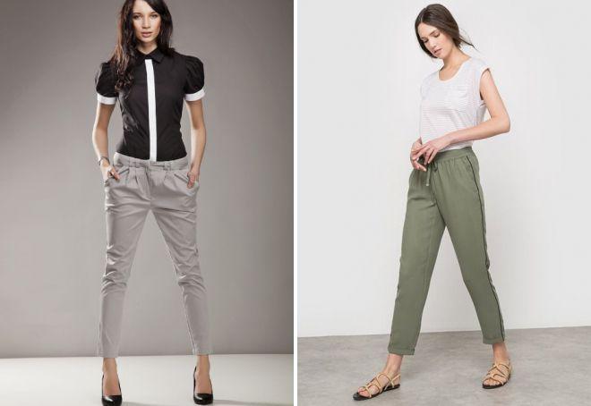фасон коротких женских брюк