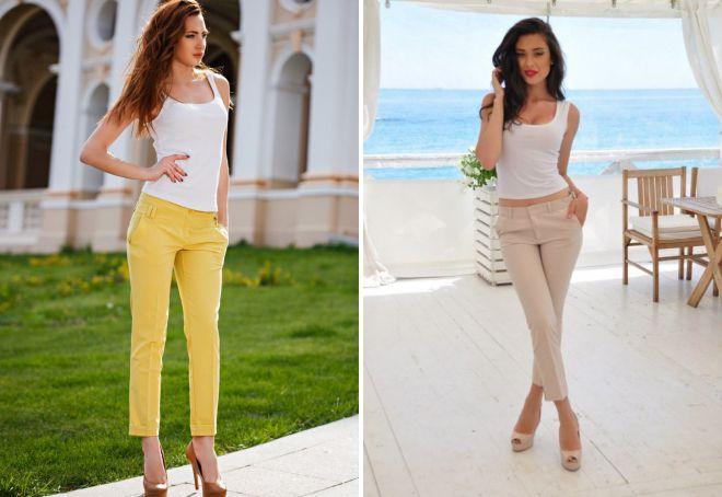 с чем носить короткие брюки летом