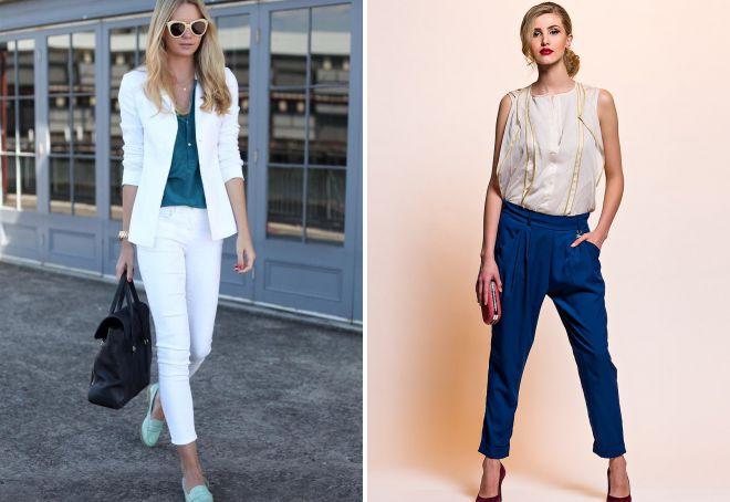 модные короткие брюки